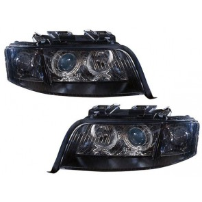 Audi A6 1997-2001 ANGEL EYES XENON koplamp zwart
