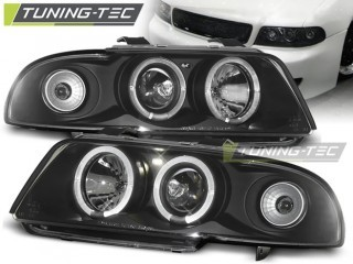 Koplamp set Audi A4 11.94-12.98 Angel Eyes Zwart