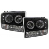 Ford F250 + EXCURSION 1999-2005 ANGEL EYES koplamp zwart
