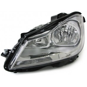 Mercedes C Klasse Coupe C204 2011-heden koplamp H7 H7 chroom LINKS