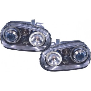 Volkswagen Golf 4 1997-2003 ANGEL EYES koplamp R32 optiek zwart