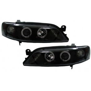 OPEL Vectra B 1995-1999 helder glas ANGEL EYES koplamp zwart