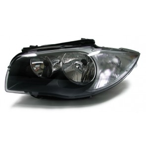 BMW E81 E82 E87 E88 2007-heden H7 H7 koplamp zwart LINKS
