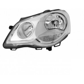 Volkswagen Polo 9N 2005-2009 H1 / H7 koplamp chroom LINKS TYC