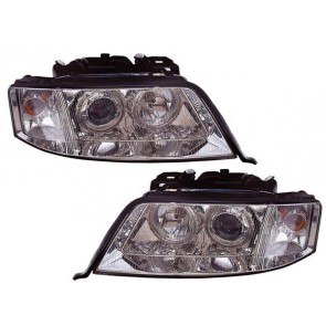 Audi A6 1997-2001 ANGEL EYES XENON koplamp D2 S H7 chroom