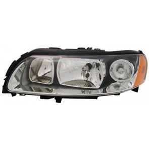VOLVO V70 II 2005-2007 H7 / H9 koplamp zwart LINKS TYC