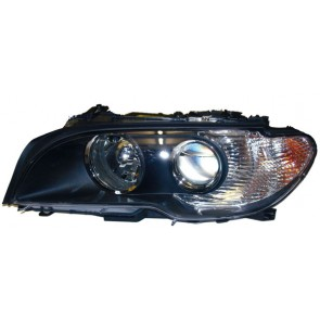 BMW E46 Coupe Cabrio 2003-2006 XENON koplamp zwart LINKS