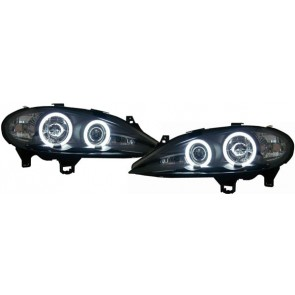 Megane 1999-2002 CCFL ANGEL EYES koplamp zwart