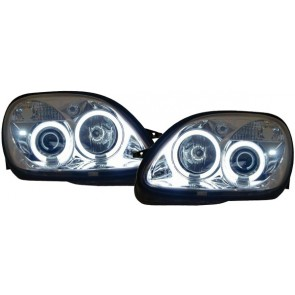 Mercedes SLK R170 1996-2004 CCFL ANGEL EYES koplamp chroom