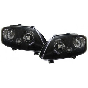 Volkswagen Touran 2003-2006 + Caddy 2004-2010 zwart H7 H1 koplamp