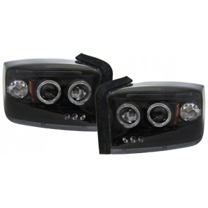 Dodge Dakota 2005-2009 ANGEL EYES koplamp zwart