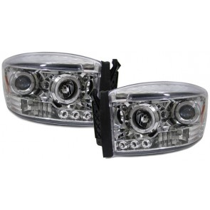 Dodge Ram PickUp 2006-2008 ANGEL EYES koplamp chroom