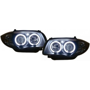 BMW E81 E87 CCFL ANGEL EYES koplamp zwart