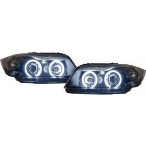 BMW E90 E91 2005-2008 CCFL ANGEL EYES koplamp zwart