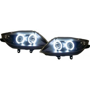 BMW Z4 E85 E86 2002-2008 CCFL ANGEL EYES koplamp zwart
