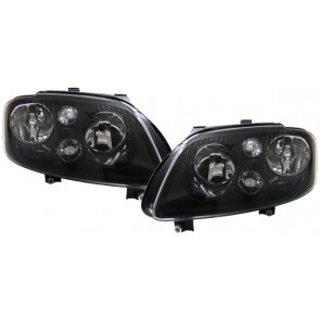 Volkswagen Touran 2003-2006 + Caddy 2004-2010 zwart H7 H7 koplamp