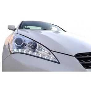 Hyundai Genesis Coupe 2008-heden koplamp met LED dagrijlicht optiek chroom