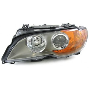 BMW E46 Coupe Cabrio 2003-2006 XENON D2S H7 koplamp titaniumknipperlicht geel LINKS