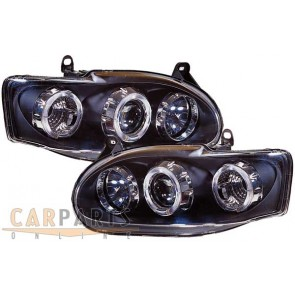 Escort 1995-1998 helder glas ANGEL EYES koplamp zwart