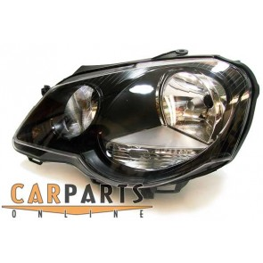 Volkswagen Polo 9N3 2005-2009 GTI CUP koplamp zwart LINKS
