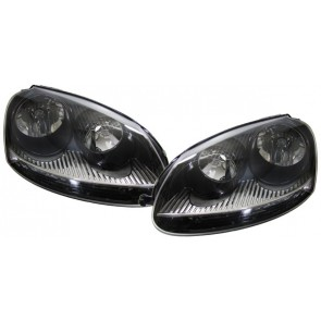 Golf 5 + Jetta 3 zwart GTI koplamp SET