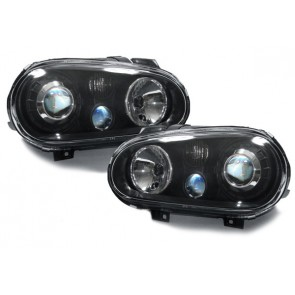 Golf 4 1997-2003 Golf 4 1997-2003 helder glas koplamp R32 optiek zwart