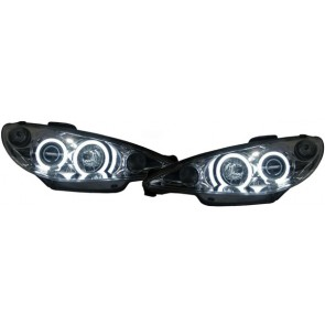 Peugeot 206 2002-heden CCFL ANGEL EYES koplamp chroom