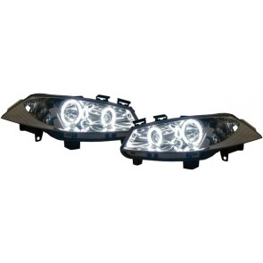 Megane 2003-heden CCFL ANGEL EYES koplamp chroom
