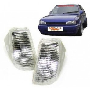 Volkswagen Polo type 86C 1990-1994 KNIPPERLICHT set WIT