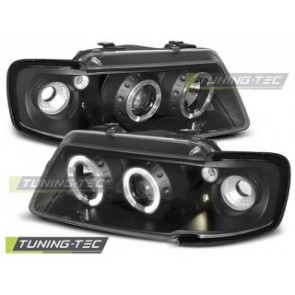 Koplamp set Audi A3 8 L 08.96-08.00 Angel Eyes Zwart