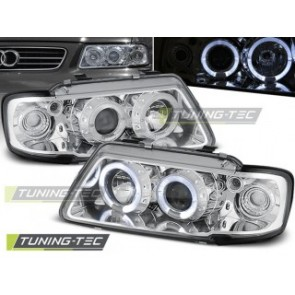 Koplamp set Audi A3 8 L 08.96-08.00 Angel Eyes Chroom