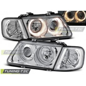 Koplamp set Audi A3 08.96-08.00 Angel Eyes Chroom