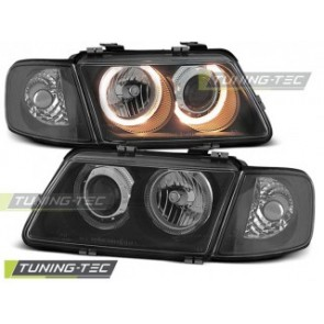 Koplamp set Audi A3 08.96-08.00 Angel Eyes Zwart