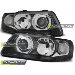 Koplamp set Audi A3 09.00-05.03 Zwart