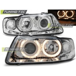 Koplamp set Audi A3 09.00-05.03 Angel Eyes Chroom