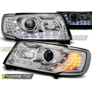 Koplamp set Audi 100 C4 12.90-06.94 Daylight Chroom