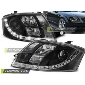 Koplamp set Audi Tt 99-05 Daylight Zwart