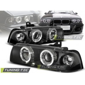 Koplamp set Bmw E36 12.90-08.99 Engel Eyes Zwart