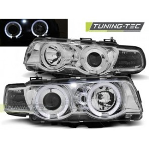 Koplamp set Bmw E38 09.98-07.01 Angel Eyes Chroom