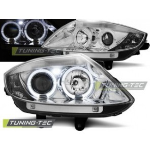 Koplamp set Bmw Z4 E85 E86 02-08 Angel Eyes Chroom