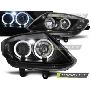 Koplamp set Bmw Z4 E85 E86 02-08 Angel Eyes Zwart