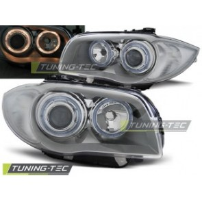 Koplamp set Bmw 1 E87/E81 04-07 Chroom