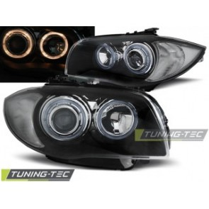 Koplamp set Bmw 1 E87/E81 04-07 Zwart