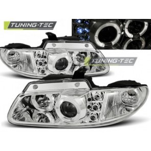 Koplamp set Chrysler Voyager 96-02.01 Angel Eyes Chroom