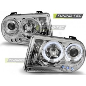Koplamp set Chrysler 300 C 05-10 Angel Eyes Chroom