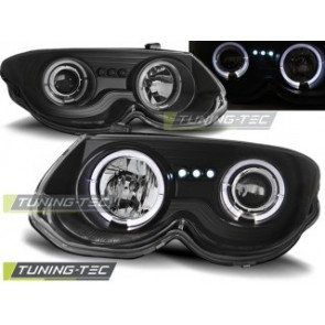 Koplamp set Chrysler 300 M 99-04 Angel Eyes Zwart