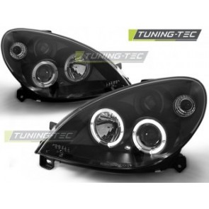 Koplamp set Citroen Xsara 09.00 10.04 Angel Eyes Zwart