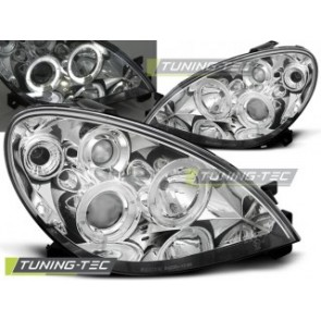 Koplamp set Citroen Xsara 09.00-10.04 Angel Eyes Chroom