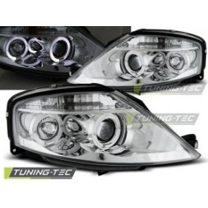 Koplamp set Citroen C3 03.02-09 Angel Eyes Chroom