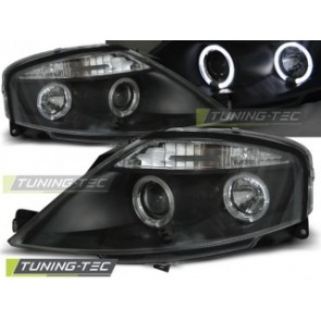 Koplamp set Citroen C3 03.02-09 Angel Eyes Zwart